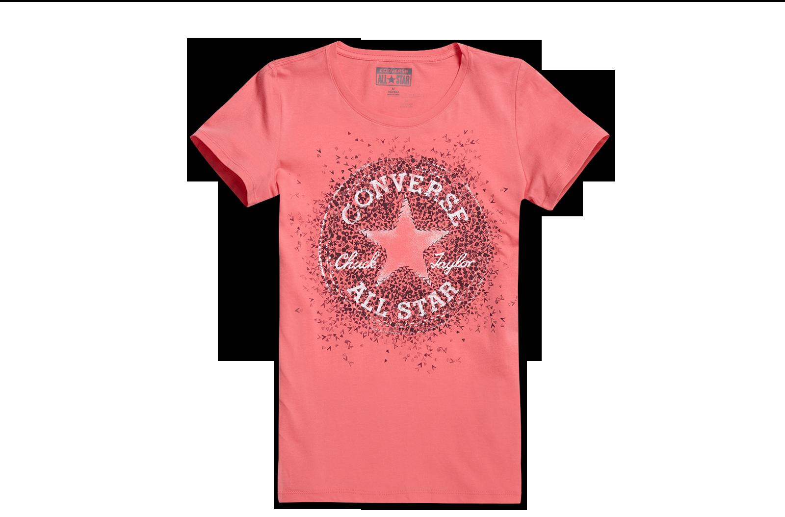 几何logo印花短袖t恤 女款图片