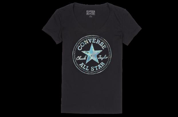 撞色logo印花短袖t恤 女款图片