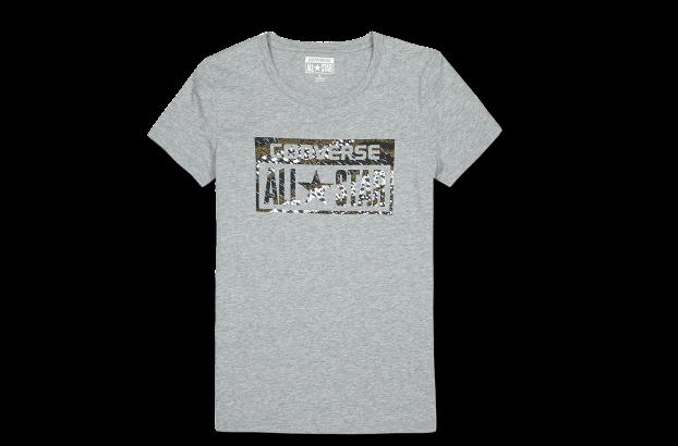 动物纹logo印花短袖t恤