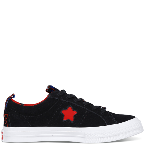 匡威converse 【男女同款】Converse x One Star Black Hello Kitty163904C001黑色